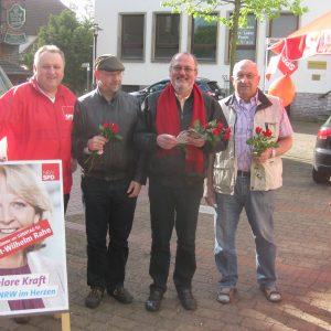 Ernst-Wilhelm Rahe mit dem Rahdener SPD Team