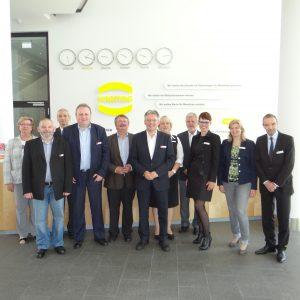 SPD Bundestagskandidat Achim Post besuchte mit einer Rahdener SPD Delegation den Harting Standort in Rahden.