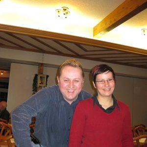 Dorothee Brandt und ich freuen uns über die gelungene Veranstaltung.