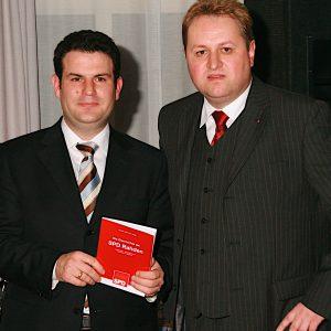 Generalsekretär Hubertus Heil mit Vorsitzenden Torsten Kuhlmann