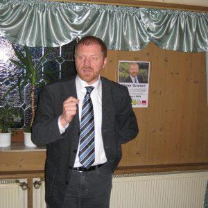 Dieter Gronert während seinen Ausführungen in den Altstadtstuben.