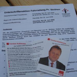 Torsten Kuhlmann unterstützt die Unterschriftenaktion