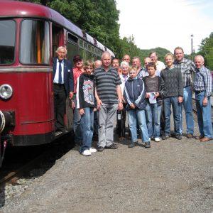 Die Rahdener Eisenbahner in Piesberg.
