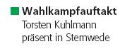 Torsten Kuhlmann präsent in Stemwede