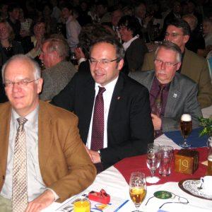Landrat Niermann mit BM Hachmann auf der Gala