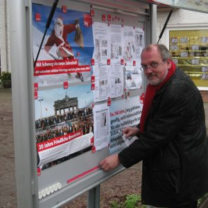 Ernst-Wilhelm Rahe wird auch im Rahdener SPD Schaukasten informieren.