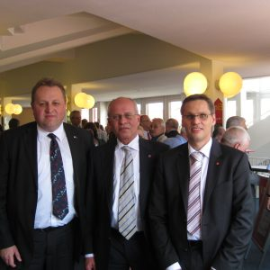 Jubiläumsfeier mit IG Metall Vorsitzender Berthold Huber