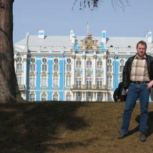 Torsten vor dem Katharinenpalast von St. Petersburg