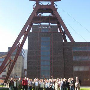 Rahdener Sozialdemokraten und Parteifreunde auf der Zeche Zollverein in Essen.
