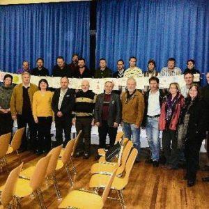 Ein Teil der Teilnehmer der zweiten Pr. Ströher Dorfwerkstatt.