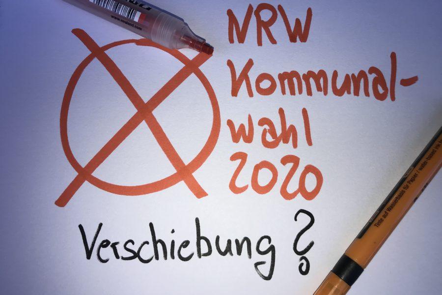 Termin NRW Kommunalwahl 2020 - Verschiebung?
