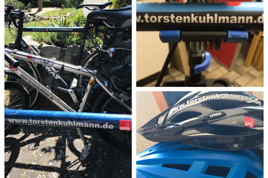 Kommunalwahlkampf bei Radtouren