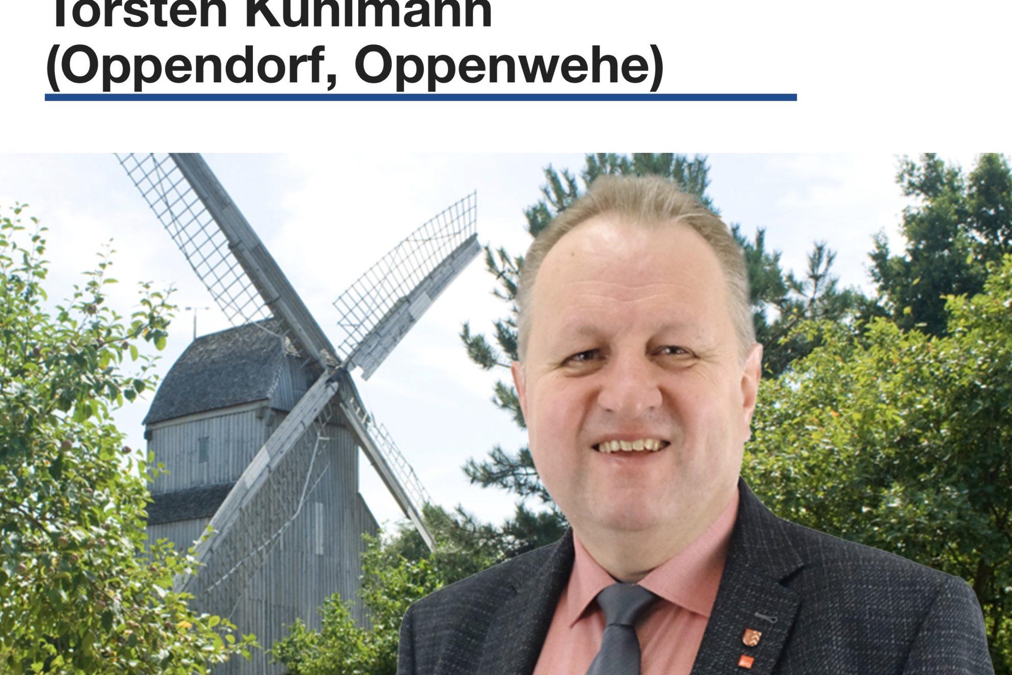 Kreistagskandidat auch für Oppendorf und Oppenwehe