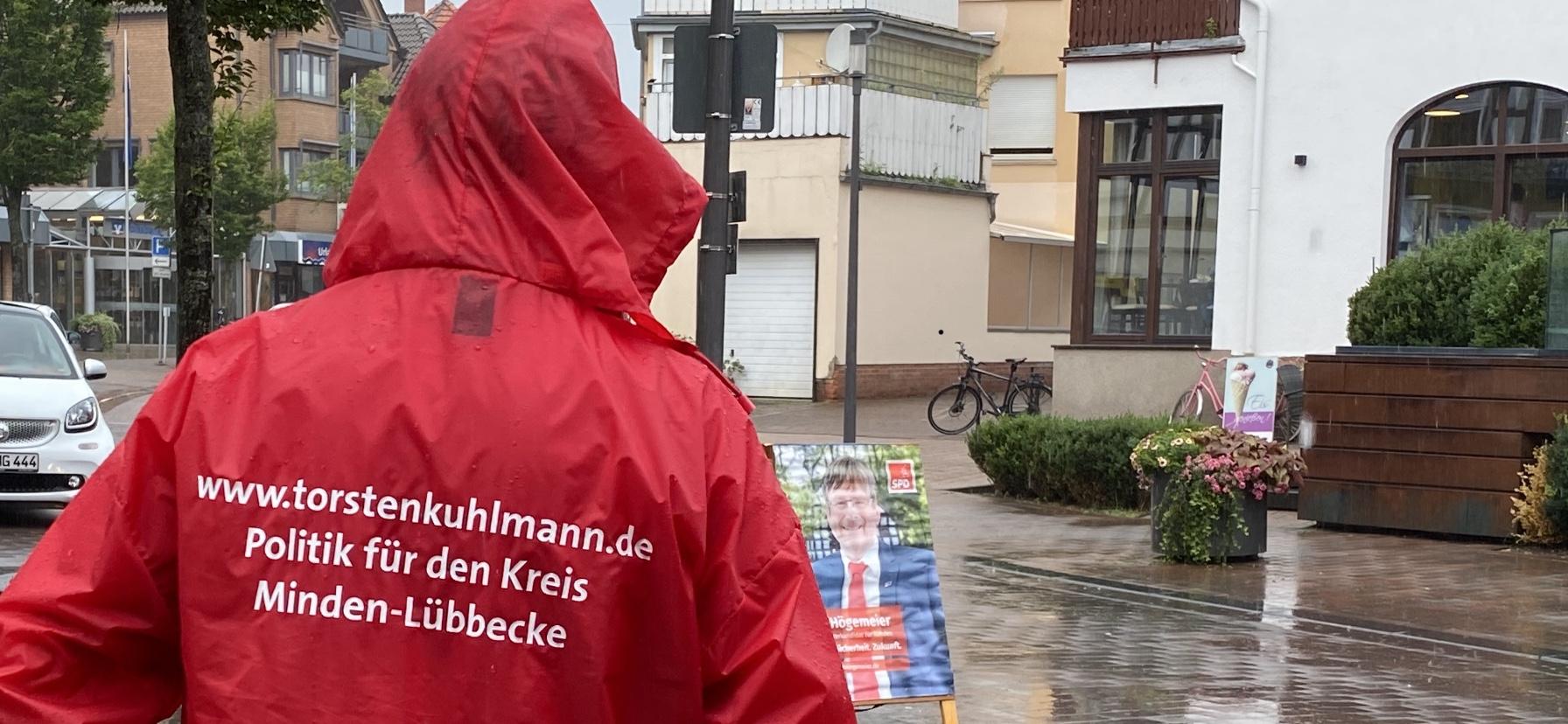 Wahlkampf im Regen