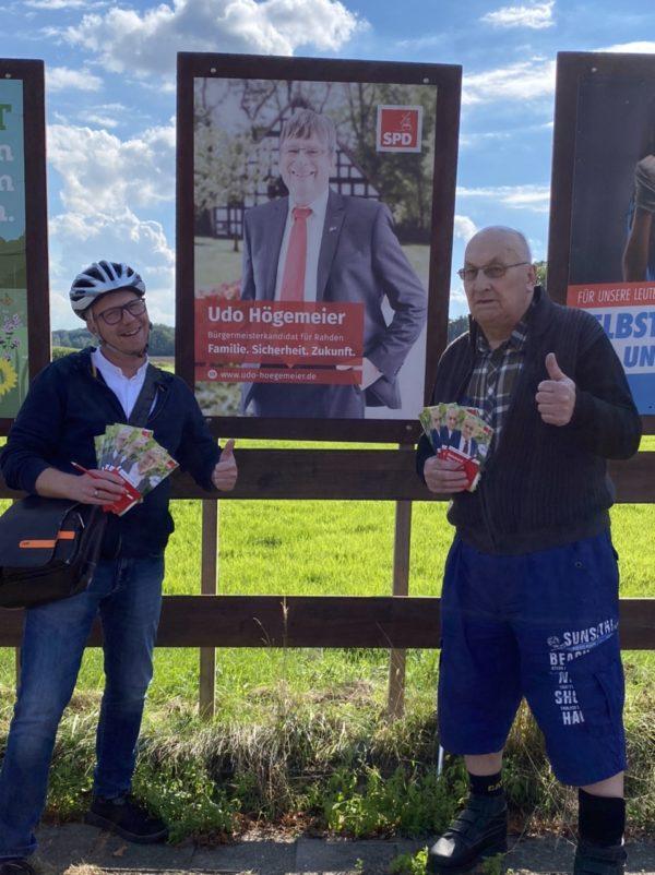 Tonnenheider Kandidaten Stefan Rose und Reinhard Stuck
