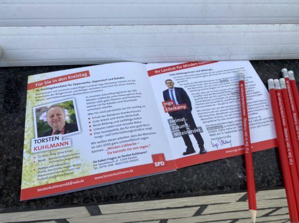 Torsten im Flyer der SPD Stemwede