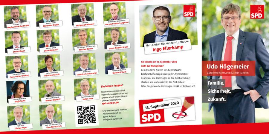 SPD Rahden Hauptflyer Seite 1