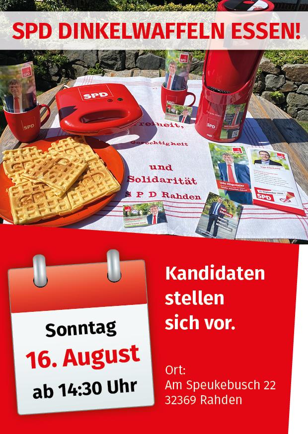 SPD Dinkelwaffeln essen