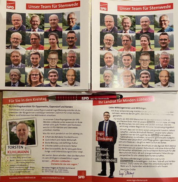 Hauptflyer der SPD Stemwede