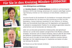 Rahdener Kreistagskandidaten