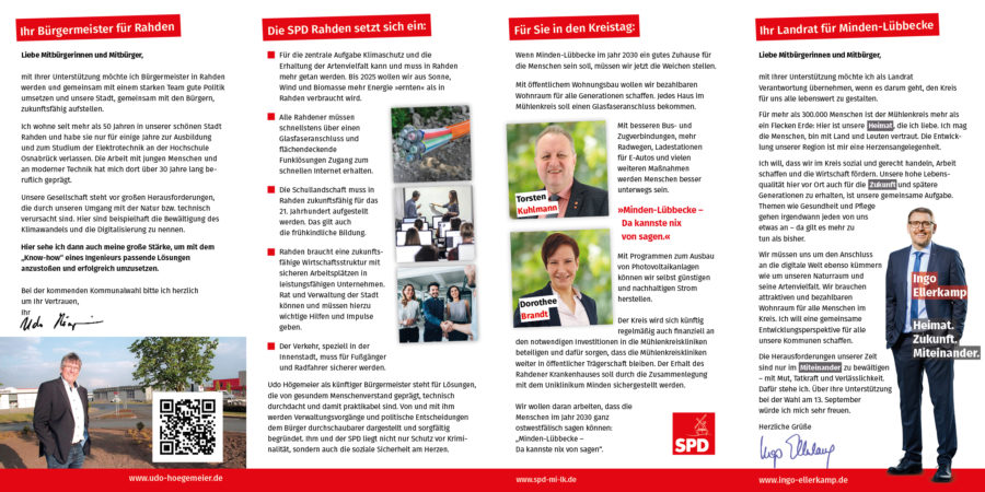 SPD Rahden Hauptflyer Seite 2