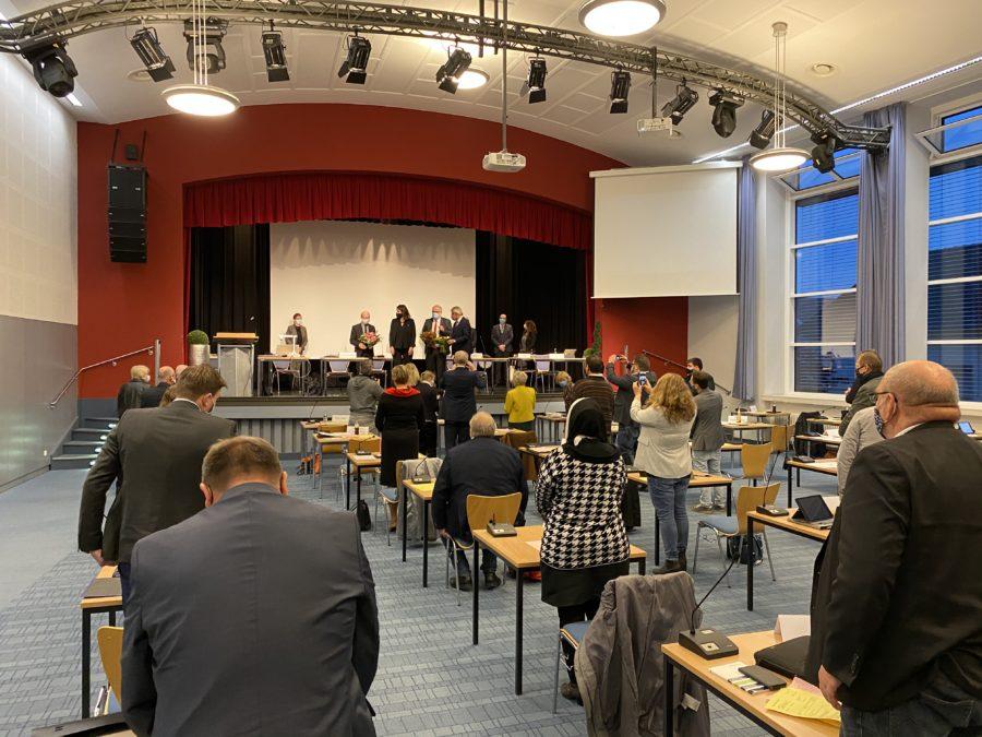Kreistagssitzung in der Aula des Leon-Sympher-Berufskolleg