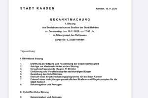 2020-11-19 Einladung Betriebsausschuss Straßen der Stadt Rahden