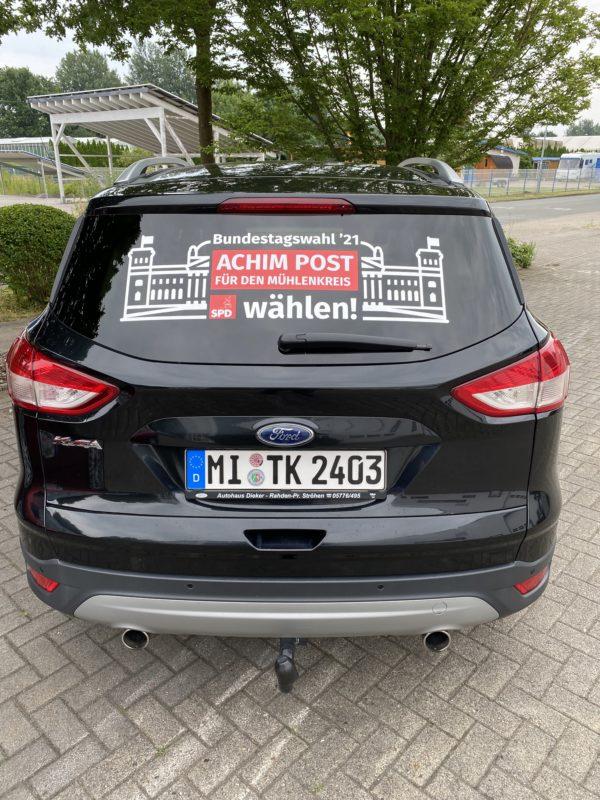 Achim Post PKW-Werbung Heckklappe
