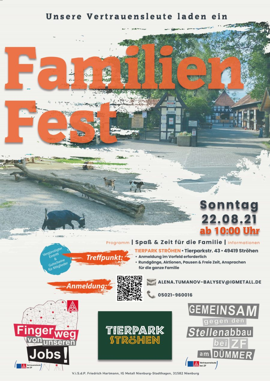 Familien Fest IG Metall im Tierpark Ströhen