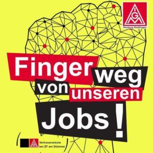 Finger weg von unseren Jobs!