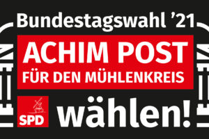 Achim Post Logo Weiß / Rot