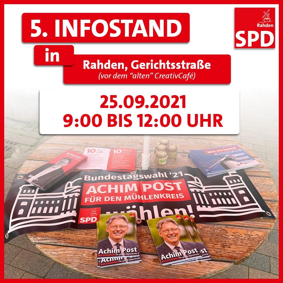 5. Infostand zur Bundestagswahl