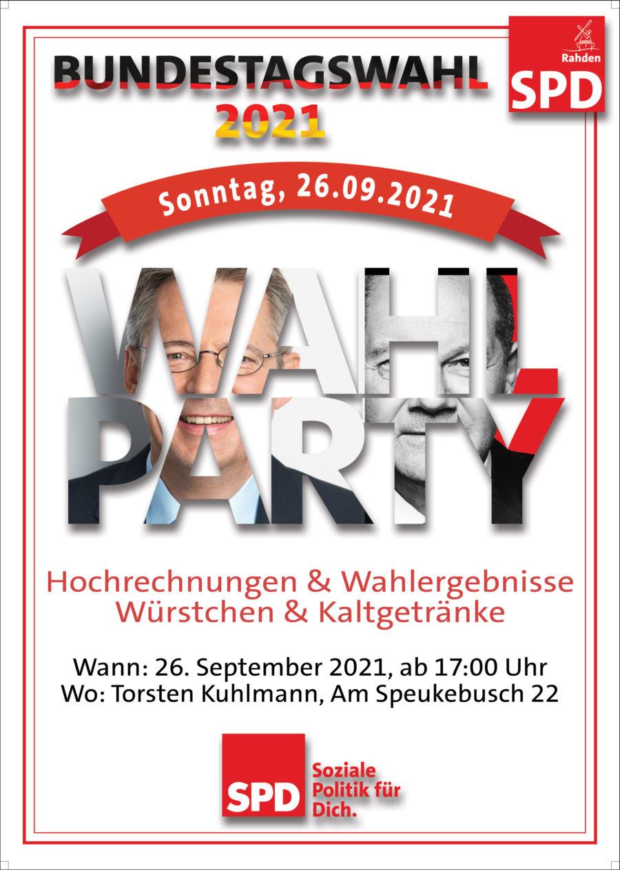 Wahlparty Bundestagswahl 2021